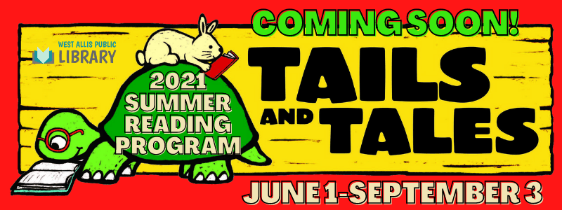 Coming soon. 2021 Summer Reading Program. June 1-September 3.